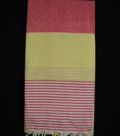 Пештемаль для хамама * Амазон * (цвет красно-желтый)