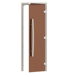 Стеклянная дверь сауны SAWO 741-3SGA, размер 70×190, баня дверь, дверь для душа