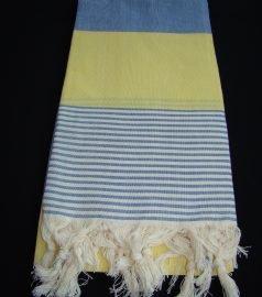Пештемаль для хамама * Амазон * (цвет сине-желтый)