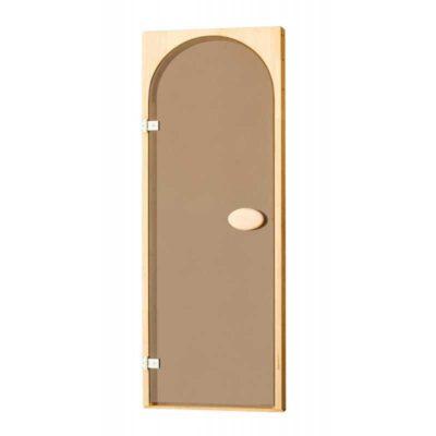 Дверь стеклянная бронза арочная 70*190 см