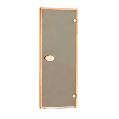 Дверь стеклянная бронза прозрачная 80х200 см.