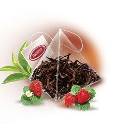 Чай Пирамидка «Земляника со сливками зеленая» 50×2,5 г