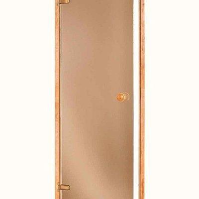 Дверь стеклянная бронза прозрачная 70×190 см.