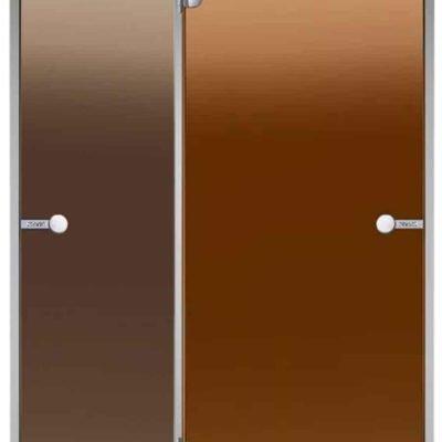 Стеклянная дверь в парную HARVIA размером 80×190, дверь сауна, дверь баня