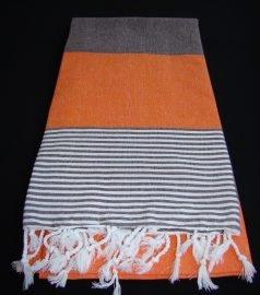 Пештемаль для хамама * Амазон * (цвет черно-оранжевый)