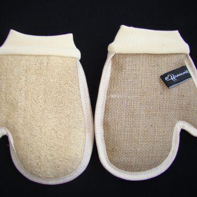 Мочалка-рукавица массажная *Варежка*(двухсторонняя)