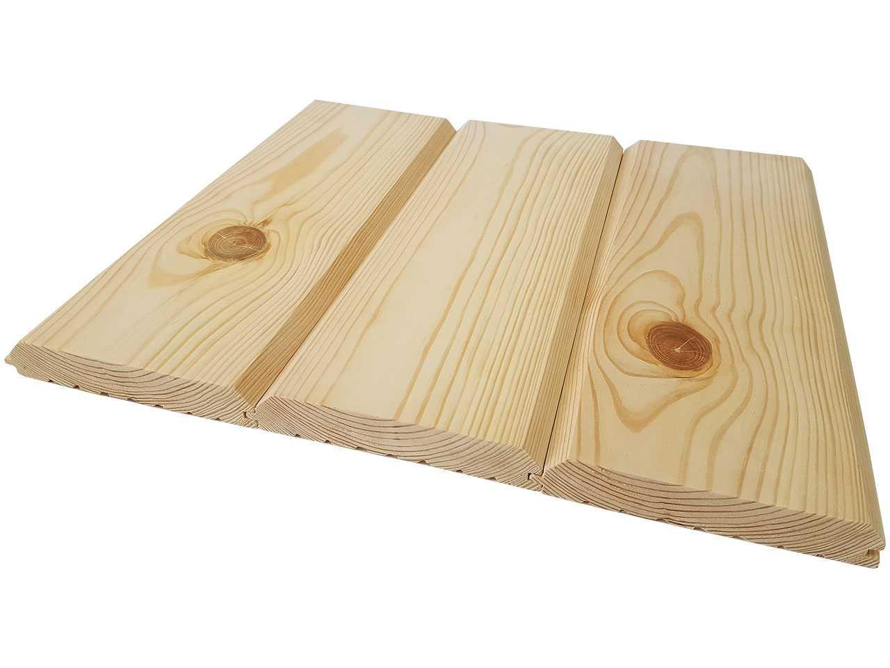 Фальшбрус, имитация бруса из сосны, сечение 160x30 мм