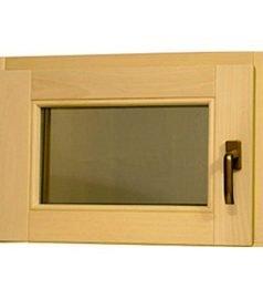 Окно для бани и сауны «поворотное» Стеклопакет с закаленными стеклами.