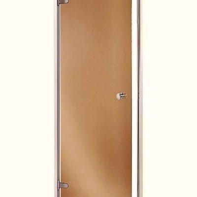 Дверь в парилку Andres AU (левая) размер 80×200, стеклянная дверь, дверь сауна