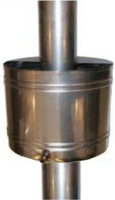 Бак для воды с дымоходной трубой
