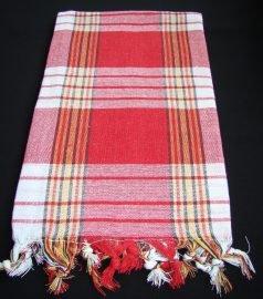 Пештемаль для хамама * Классик * (цвет красный)