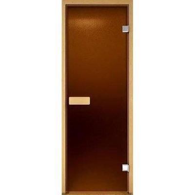 Дверь стеклянная бронза матовая 80х190 см.