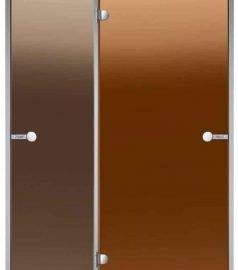 Стеклянная дверь в парную HARVIA размером 90×190, дверь сауна, дверь баня