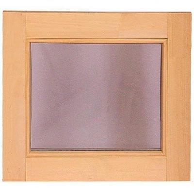 Окно для бани и сауны «глухое». Стеклопакет с закаленными стеклами.