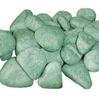 Камни для сауны и бани, жадеит шлифованный 20 кг (средний)