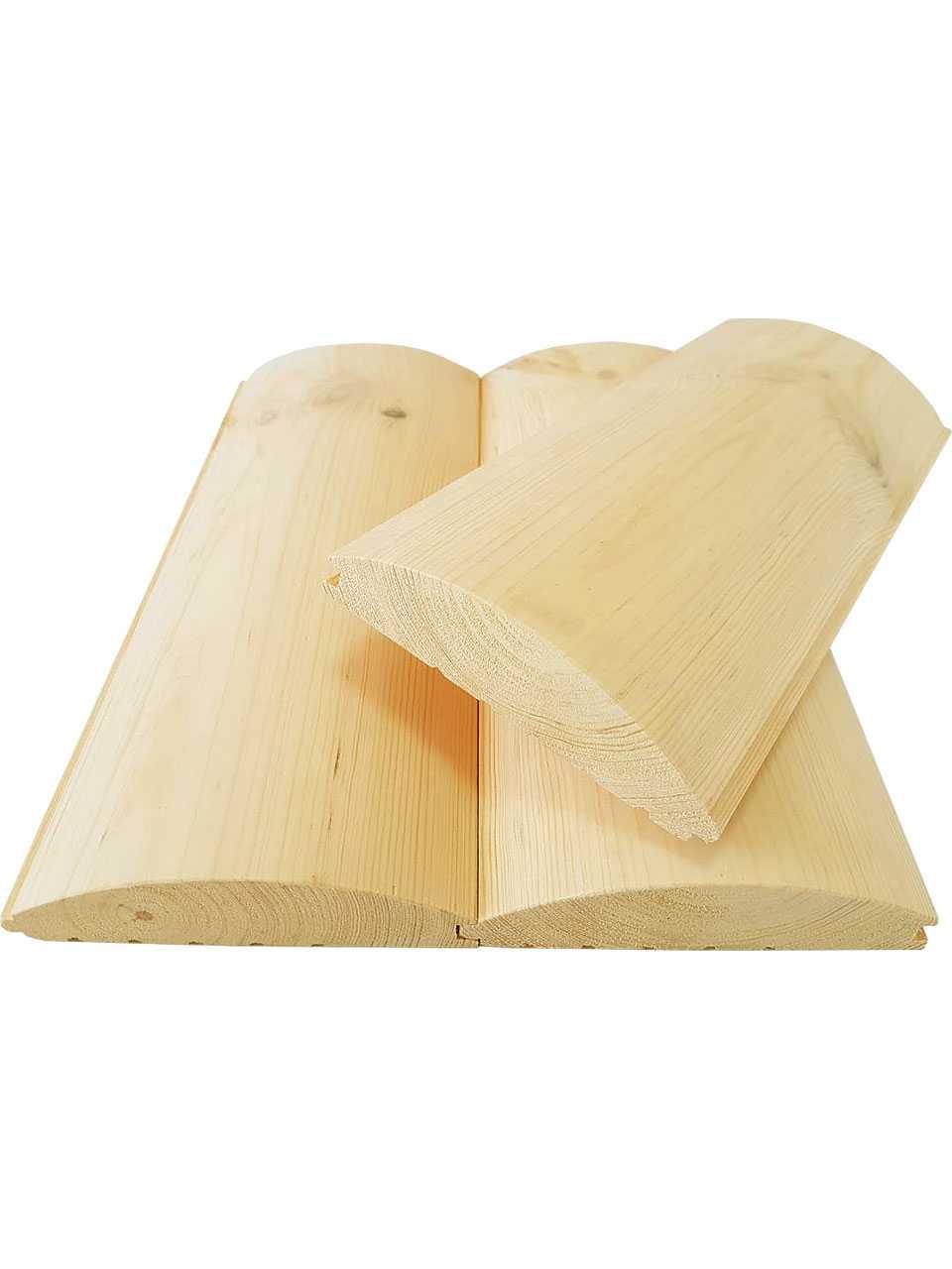 Блок-xаус сосна, ель 130x35x4,5 м