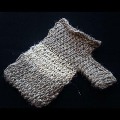 Мочалка-рукавица массажная «Варежка». Для кожи с нормальной чувствительностью.