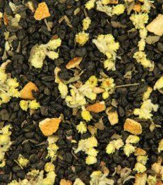 Зеленый ароматизированный чай Лайм-базилик
