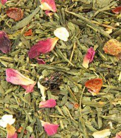 Зеленый ароматизированный чай Зеленая сакура