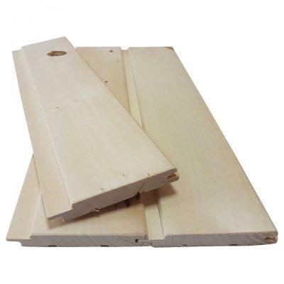 Вагонка липа для отделки саун и бань, сечение 80×15 мм