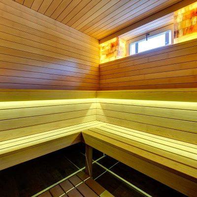 Вставки из гималайской соли в домашней сауне (реализация «ПроектСервисКом»)