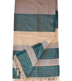 Полотенце для хамама «Классик» (бело синее)