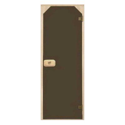 Дверь стеклянная бронза трапеция 70*190 см