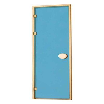 Дверь стеклянная синяя 80*210 см